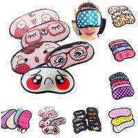 Wholesale Sleep Mask Cartoon Eyes - Unisex Cartoon Funny Small Dots Sleeping Eye Mask Cute Anti Snoring Blindfold Sleeping Shade Cotton Cover Blinder Blindfold