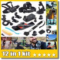 Wholesale helmet mount kit resale online - 12 In Travel kit Wrist Strap Helmet Mount Head Chest Belt Mount Bobber For K Action Camera EKEN H9