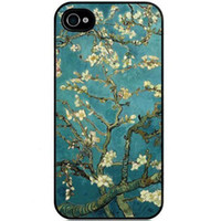 Wholesale Iphone Covers Tribal Pattern - Sakura Vintage Flower Watercolor Art Tribal Tree Pattern Hard Plastic Mobile Protective Phone Case Cover For iPhone 4 4S 5 5S 5c 6