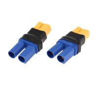 Wholesale Rc Deans Plug - GoolRC 2Pcs set Deans Style EC5 Female to XT60 Plug Male Connector RC Part order<$18no track