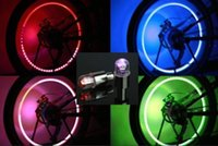 2PCS Firefly Spoke Valve Wheel LED Stem Cap Tire Mouvement Neon Light Lamp For Bike Vélo Auto Moto