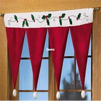 Wholesale Long Home Curtains - Christmas Door Window Drape Curtain Decorative Indoor Home Decoration