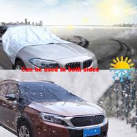 eiswagenabdeckung großhandel-Auto Universal Cover Windschutzscheibe Frontscheibe Cover Staub Regen Schnee Resist Cover Truck SUV Eis Free Protector Sun Shield mit Aufbewahrungstasche
