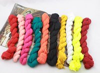 Wholesale Long Punk Rings - 180*50cm Children Fashion Cotton Linen Fold Long Big Shawl Scarves Infinity Scarves Multicolor Punk Scarf 50Pcs Lot