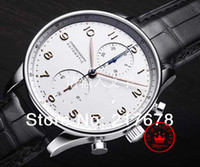 observa portugues venda por atacado-Qualidade superior safira de luxo Português IW371445 Black Dial homens automáticos Assista Relógios