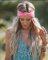 Wholesale Wholesale Ties China - 2017 cotton headband girls hair accessories headbands for girls tied Elastic hairband10 colors Europe and the United States new style