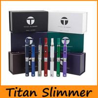 Wholesale Ecig Gift Boxes - Titan Slimmer Starter Kit Ecig Vaporizer Kit Gift Box Kit 510 Thread Battery 7 Colors Dry Herb Vape Pen Kit