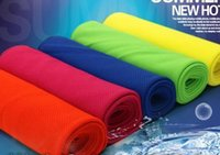 Wholesale Light Yellow Scarf - Cold cooling Performance towel sports outdoor ice cold scarf scarves Pad neck tie wristband headband Summer beach cooling band party gift