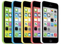 iphone 5c 16gb großhandel-Original Apple iPhone 5C überholte entsperrte 8 GB / 16 GB / 32 GB Dual Core 8MP Kamera 4.0