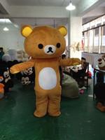 mascote bonito venda por atacado-2017 venda Quente urso traje da mascote bonito dos desenhos animados fábrica de roupas personalizado personalizado adereços adereços andando bonecas roupas de boneca