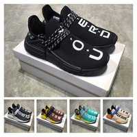 Wholesale Body Breathe - Pharrell NMD Human Race TR Running Shoes 2017 New Men Women PW NMD Hu Trail Core Black Yellow Mood Clouds Body Earth Breathe Walk Sneakers