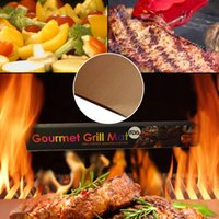 Wholesale Bbq Grill Stove - Non-stick Professional Baking Mat BBQ Grill Mats Gas Stove BBQ Oven Smokeless Tabletop Korean BBQ Grill Baking Mat Sheet