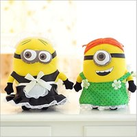 Wholesale Despicable 25 - 25 cm minions maid plush despicable me despicable me 2 toys Minions Maid outfits green apron for kid girls
