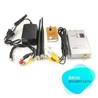 Wholesale Wireless Av Transceiver - 1.2G 800mW Wireless AV Transmitter Audio Video Receiver transceiver Set up to 800m~1000m(Pack of 1 set)