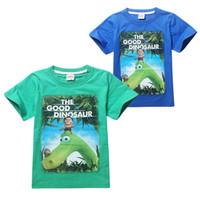 Wholesale Wholesale Children S Goods - New children s clothing The Good Dinosaur cotton girls boys t shirts 8 pcs lot TM