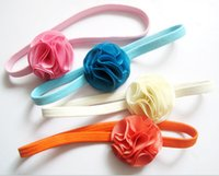 Wholesale Cheap Kids Jewellery - SALE! Flower kids hair ribbon!Children's chiffon princess headband,girls hair accessories,charm fashion jewelry,cheap jewellery.24pcs.QF