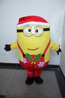 Wholesale Hot Minion Costume - hot selling Christmas fancy dress Minions Mascot Costumes halloween easter Performance Animal adults costumes for guys