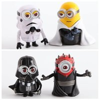Wholesale Despicable Toys Action - 9cm Despicable Me Minion Cos SW Darth Maul Darth Vader Stormtrooper Luke Skywalker PVC Action Figures Toys Dolls Cosplay Gift