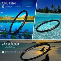 Wholesale Wholesale Circular Polarizing Filter Lens - Andoer 52mm Digital Slim CPL Circular Polarizer Polarizing Glass Filter for Canon Nikon Sony DSLR Camera Lens