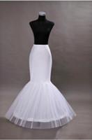 Wholesale mermaid crinoline petticoat - 2015 Mermaid Petticoats Adjustable Sizes Crinoline Bridal Accessories Underskirt for Wedding Prom Quinceanera Dresses