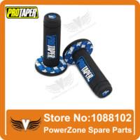 Wholesale Dirt Bike Gear Lever - MX Dirt Pit bike Cross Pro Taper Handle Blue Grip Grips + Alloy Gear Lever + Fuel Gas Cap Vent Fit