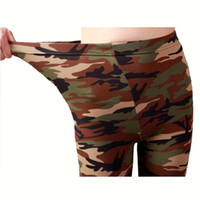 Wholesale camouflage leggins - Camouflage Leggings Women High Waist Autumn Army Leggins Lady Casual Trousers Green High Elastic Workout Legging Printed Pants