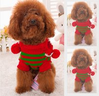 Wholesale Mascot Costume Wedding - 2017 winter small pet dog pet cat mascot clothes Personality classic Christmas costumes plus velvet double warmth