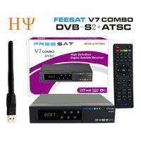 Wholesale Digital Satelite - [Genuine] North America DVB-S2 ATSC satelite receiver Freesat V7 combo ATSC support powervu cccam biss for Mexico Canada US