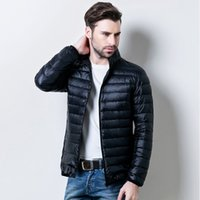 Wholesale Men S Clothing Goose - Down jacket mens top quality man winter coat design coats fashion clothes jacket men casual down jackets winter brand goose down coat collar