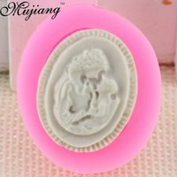 Wholesale Baby Cakes Tray - DIY Mother & Baby Fondant Chocolate Moulds Silicone Handmade Soap Mold Candy Biscuit Ice Tray Mold Cake Decorating Tools