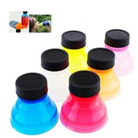 Wholesale Drink Can Tops - New Reusable Useful Creative Universal 6Pcs Snap On Tops Soda Can Bottle Caps Fizz Drink Lid Party Home