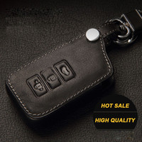 Wholesale Lexus Leather Key - Genuine Leather Car Key Case for LEXUS IS250 ES240GS GS LS RX270 LX Rx ES250 GS300h NX200t key cover key ring auto accessories