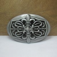 Wholesale Antique Pewter Finish - BuckleHome Fashion cross belt buckle with pewter and antique brass finish FP-03587 suitable for 4cm wideth belt free shipping