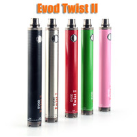 Wholesale Evod Vv - Evod Twist II 2 VV battery 1600mAh Variable Voltage 3.3v-4.8v battery VS tesla sidewinder 2 battery