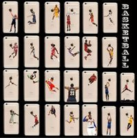 Wholesale Iphone Team Cases - Basketball Shooting Player Team Hard Plastic PC Case For Iphone 6 Plus 4.7 inch 6G 4G 5G 5C skin cover Case