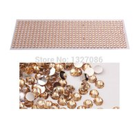 Wholesale-990pcs 4mm Strass Self Adhesive Diamantes Stick On Kristalle Perlen-Nagel-Kunst-Auto CHAMP