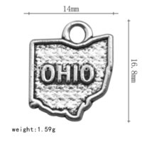 Atacado Ohio Estado Charms Estado Mapa Contorno Jóias Bulk lotes jóias usb flash drive lote mp4