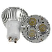 lampara led 3x1w al por mayor-CREE 3W 3x1W GU10 MR16 E27 GU5.3 Foco LED Bombilla Lámpara GU10 Foco 85-265V 110V Downlight Iluminación de techo CE ROHS UL