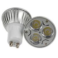 birne deckenleuchte großhandel-CREE 3W 3x1W GU10 MR16 E27 GU5.3 LED Scheinwerfer Birnen Lampe GU10 Scheinwerfer 85-265V 110V Downlight Deckenbeleuchtung CE ROHS UL