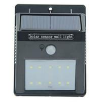 Wholesale Dc 12v Sensor - Led Solar Sensor Light Outdoor IP65 Waterproof 10 Leds Wall Lamp Solar Powered Panel Energy Saving PIR Motion Senser Garden