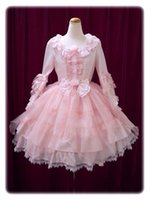 Wholesale Lolita Cosplay Free Shipping - Free Shipping Daneileen DEL0001 Customized Latest Sweet Lolita Dress Lovely Theme Costume Cute Cosplay Dresses Pink Princess Dress