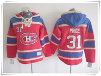 Wholesale Best Prices Hoodies - Men #31 Price ICE Hockey Hoodies Jerseys Canadiens 27 Galchenyuk 9 Richard red Best quality stitching Jerseys Sports jersey Mix Order