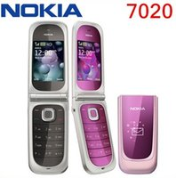 Wholesale 2gb Usb - Unlocked Original 7020 Original Nokia 7020 Unlock Cell Phones Bluetooth FM JAVA USB mp3 player Refurbished Mobile Phone 1 year warranty