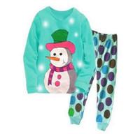 8a3e1bb8fd730 Pas cher prix coton garçons père Noël noël pyjamas enfants vêtements de  nuit bébé nuit porte enfants pyjamas ejet089