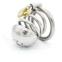 Wholesale Male Chastity Gimp - Stainless steel Male Boundage chastity medium-sized Cage Gimp New Style A086