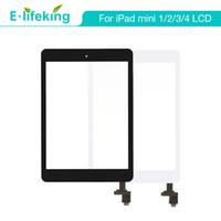 ipad mini lentes venda por atacado-Melhor qualidade para ipad mini mini 2 3 4 touch screen digitador assembléia lente frontal de vidro substituição parte da tela de toque livre dhl + preto branco