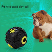 Wholesale Dog Squeaker Ball - 2018 Dog Toys Pet Puppy Sound ball leakage Food Ball sound toy ball Pet Dog Cat Squeaky Chews Puppy Squeaker Sound Pet Supplies Play