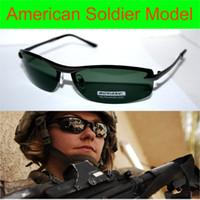 Wholesale Uv Polarised Sunglasses - Wholesale-Luxury Us Soldier Model Driver's Tac Enhanced Polarized Polaroid Polarised Golf Uv 400 Men's Sunglasses With Foam Bag N Box