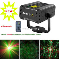 Wholesale Laser Light Projector Remote - 2015 new arrival Remote MINI GR 2patterns Sunflower Laser projector Stage DJ lighting Dance Show Party Light D15 free shipping