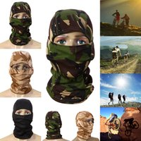 Wholesale Helmet Camo - Wholesale- Multifunctional 3D Camouflage Camo Headgear Balaclava Face Mask Quick-Dry Full Face Mask Helmet for Hunting Fishing Cycling